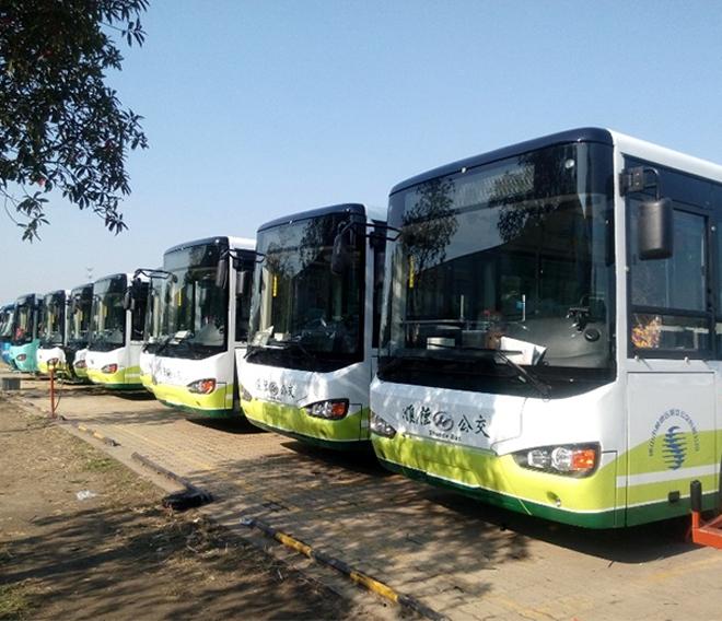 顺汽公交78台插电式公携赛威全系列投入运营