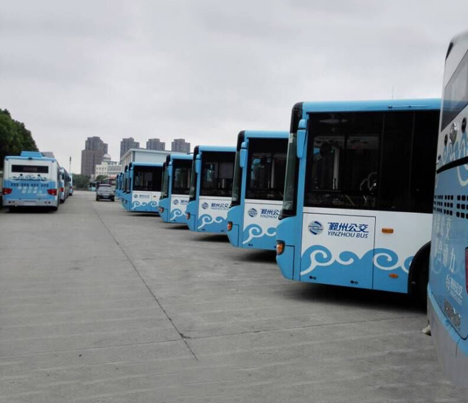 浙江宁波鄞州公交25辆新能源车携赛威产品投入运营