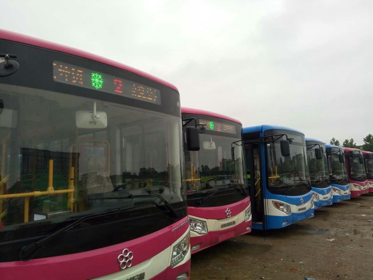 喜讯:咸宁公交携手赛威实业LED显示屏投入运营