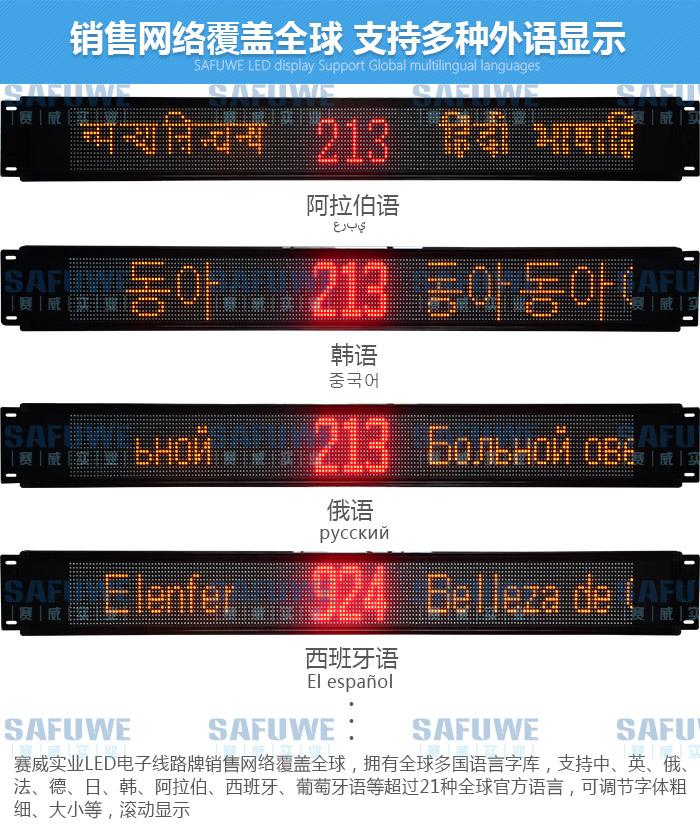 车载外文LED电子线万博app下载ios,手机万博版登录外语LED显示屏,客车多国语言LED电子屏