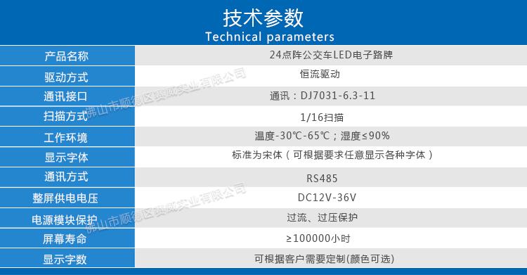 24点阵手机万博版登录LED电子屏技术参数
